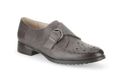 Clarks Busby Jazz, Cuero Gris Oscuro, Zapatos casual para