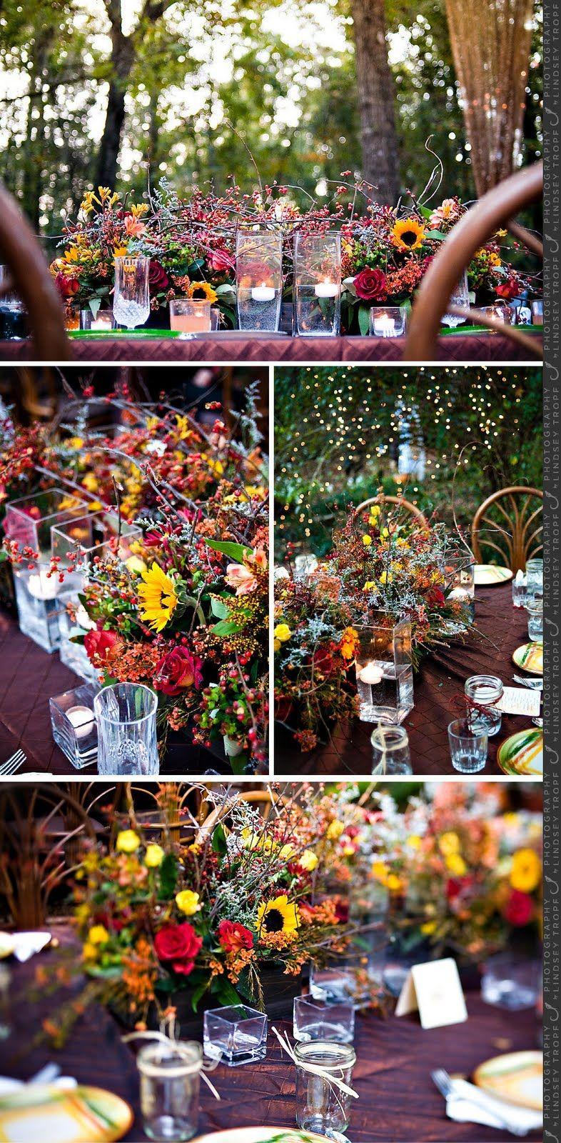 marry you me real wedding backyard fall wedding wedding