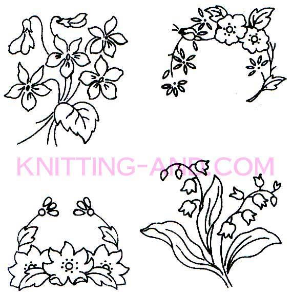 Small Flower Embroidery Patterns Cake Templates Pinterest