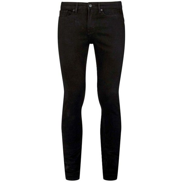 e450c694 TOPMAN Black Spray On Skinny Jeans (115 BRL) ❤ liked on Polyvore featuring  men's