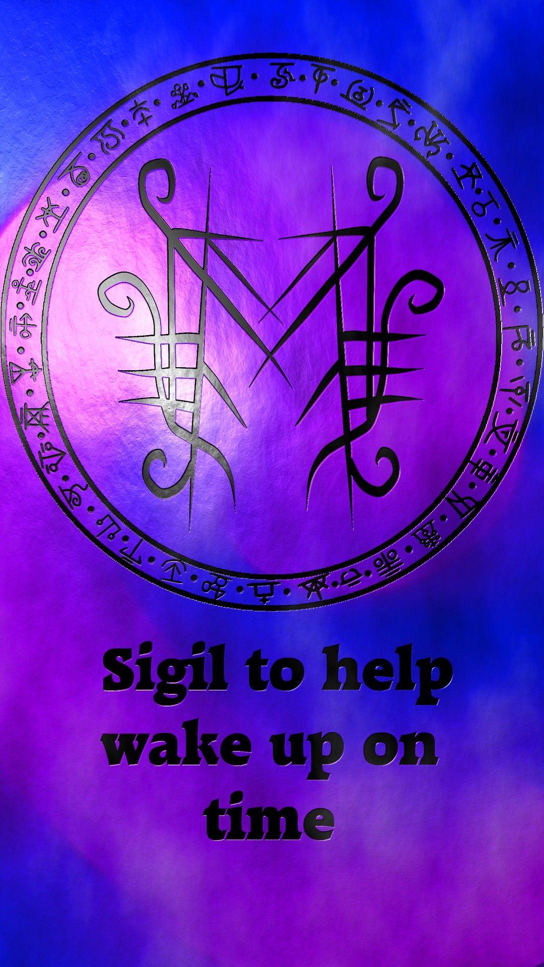 wake up on time | Majiks | Sigil magic, Magic symbols