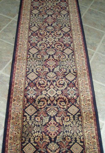 Amz104 Rug Depot Remnant Runners 26 X 5 10 Stanton Savoy Topkapi 25973 Black Background Machine Made Colorful Backgrounds Carpet Runner Area Rug Pad