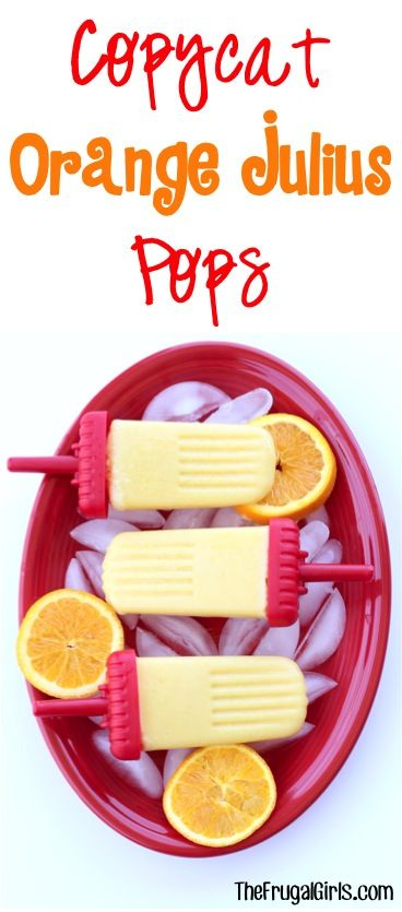 What could be better than an Orange Julius on a hot summer day?  Well... how about an icy cold Copycat Orange Julius Popsicle?!? They're so simple to make and SO yummy! What you'll Need: 12 oz. Min...