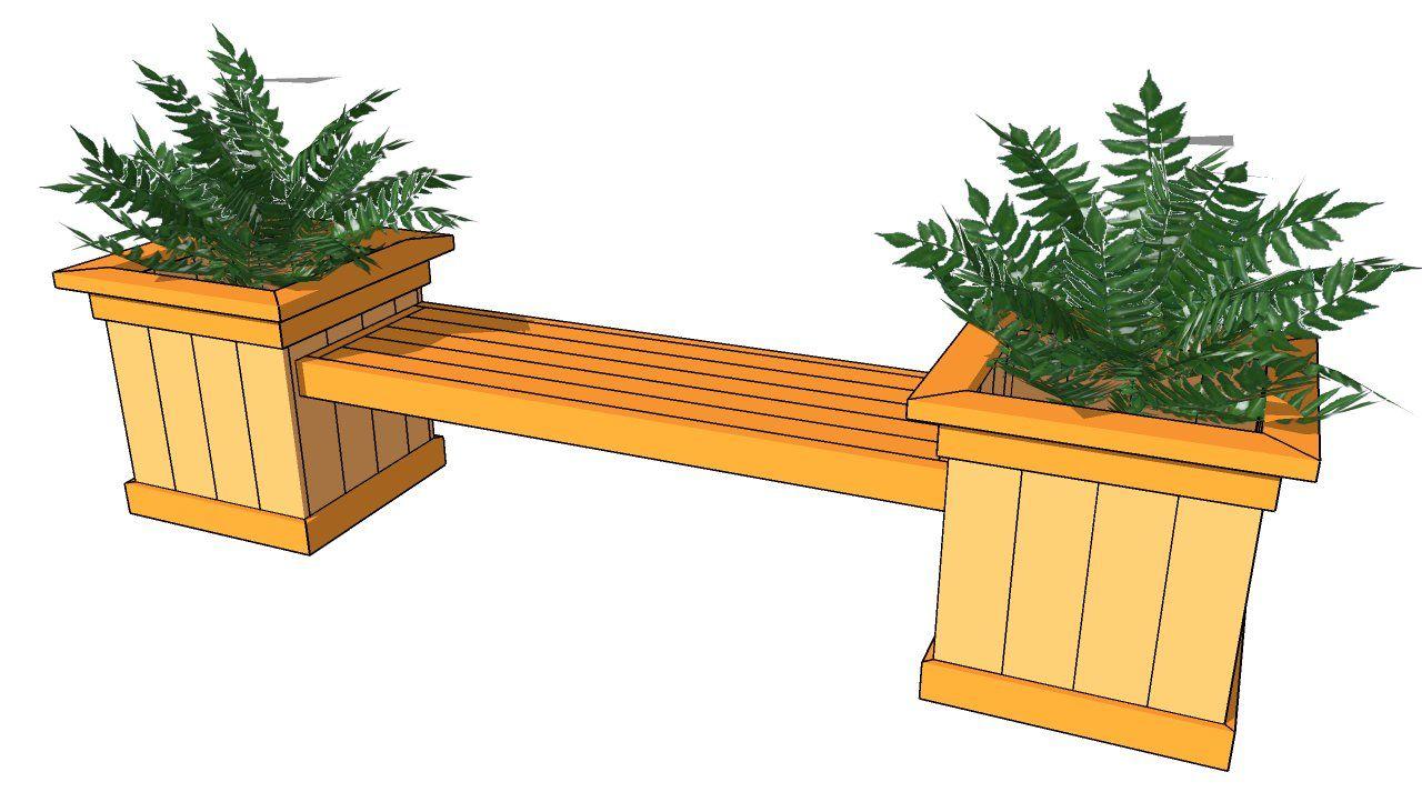 Planter Bench Plans Outdoor Furniture Plans Planter Box Plans