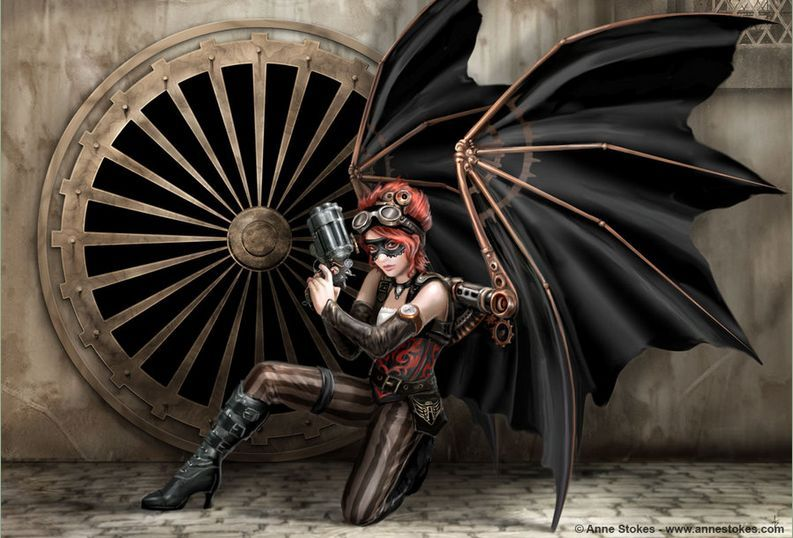 """""""The Assassin"""", by Anne Stokes."""