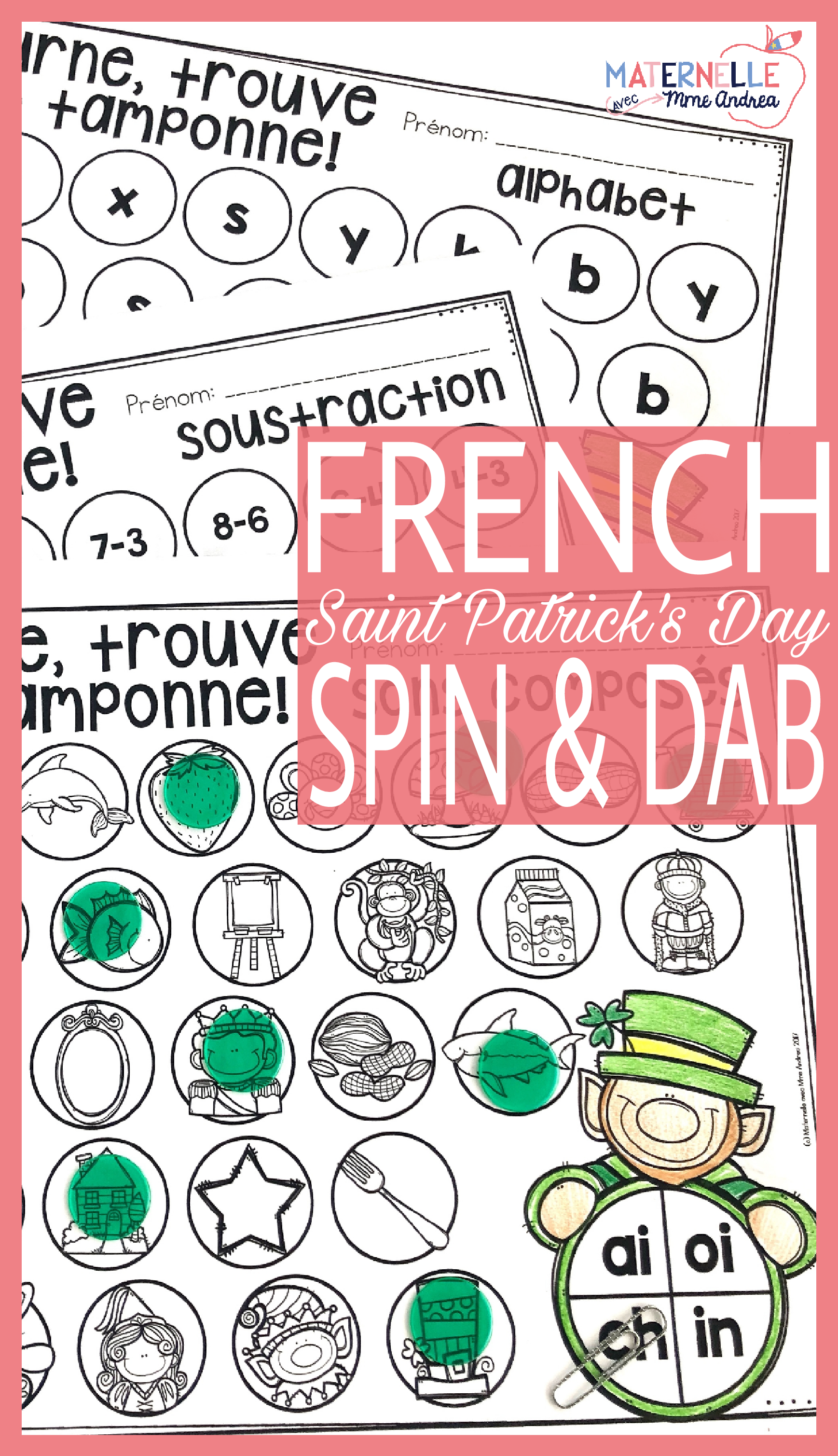 French Saint Patrick S Day Math And Literacy Dab It
