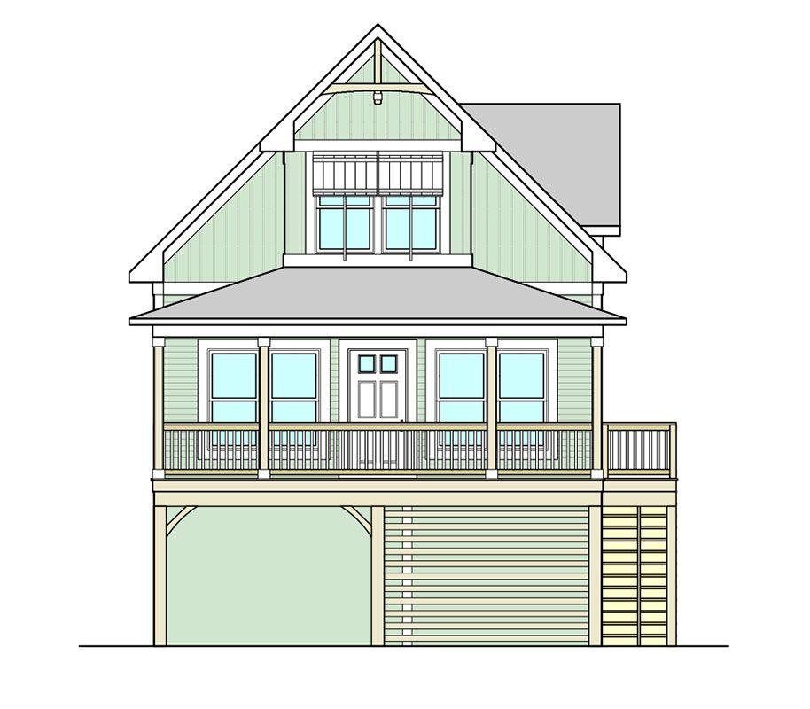 Bowsprit Cottage Coastal House Plans from Coastal Home Plans