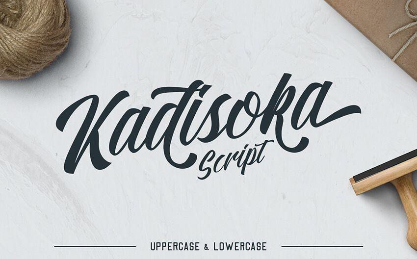 Kadisoka free handwriting font script bthemez crafty