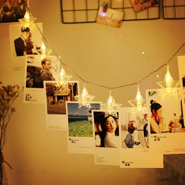 DIY Photos Star Clip String Light String, Fairy Lights Battery Powered images
