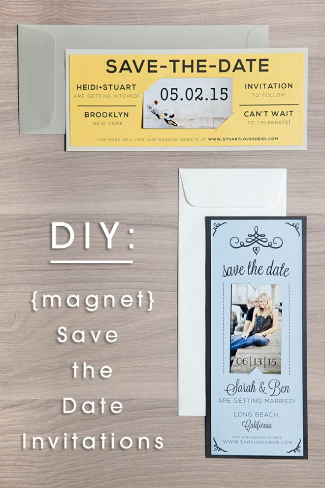 Diy Wedding Magnet Save The Date Invitations Free Editable Design S