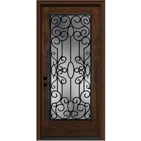Wrought Iron Clear Caramel Inswing Fiberglass Entry Door (Common 80-in x 36  sc 1 st  Pinterest & Wrought Iron Clear Caramel Inswing Fiberglass Entry Door (Common: 80 ...