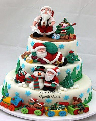 Cute Holiday Cake For Large Office Party Family Gathering Or