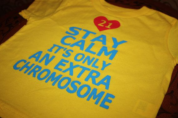 Down Syndrome Awareness Hand Kids Children Crew Neck Shirt Pullovers