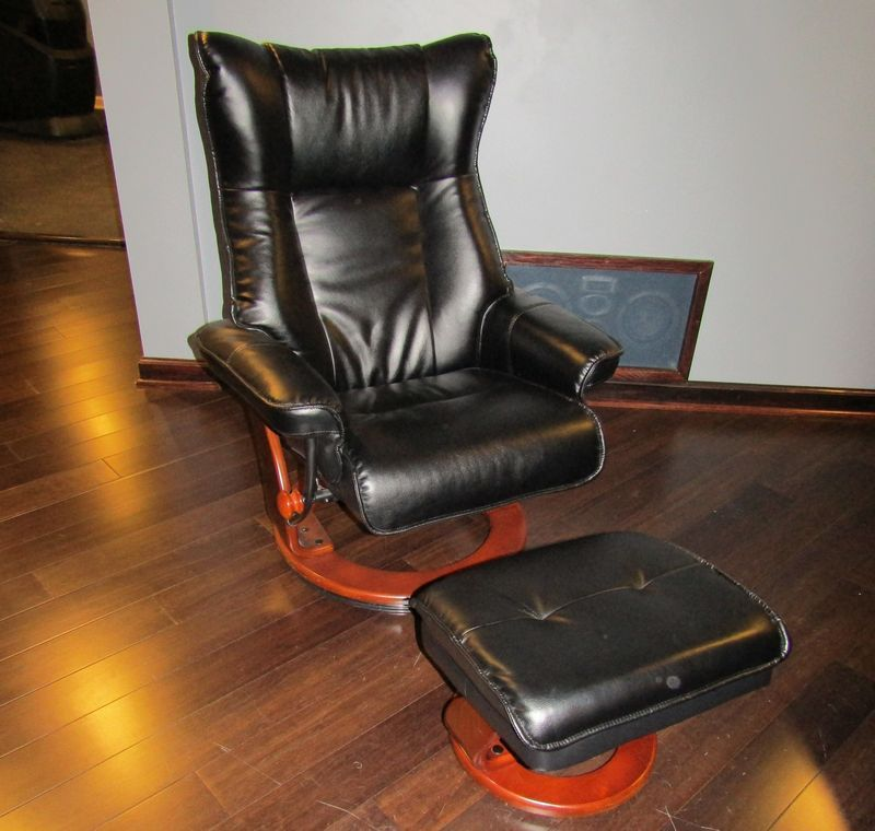 Stress Free Recliner And Ottoman In Very Good Condition. From Pet Free Home.