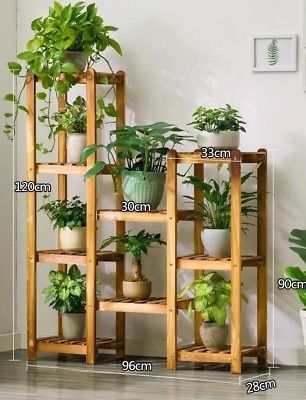 Details about WOODEN SHELF PLANT STAND LADDER BOOK SHELF STORAGE ELEGANT MULTI CHOICE AND USE