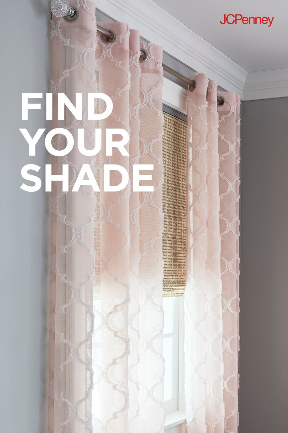 A Pink Sheer Curtain Is A Soft Accent For Any Room Add A Cellular