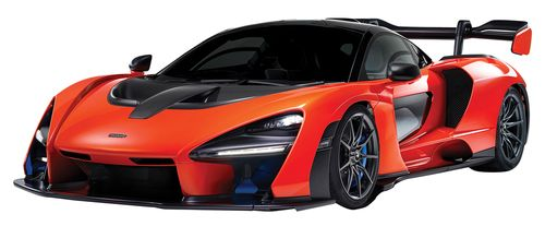 MCLAREN SENNA ORANGE 1/24 SCALE DIECAST CAR MODEL BY MOTOR MAX 79355