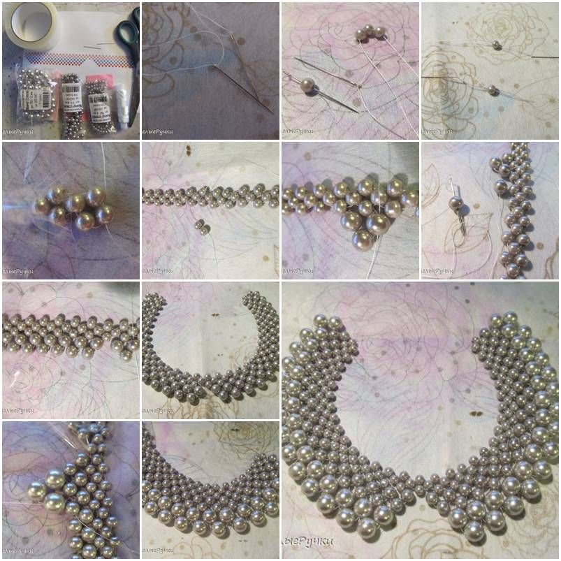 diy crafts ideas how to make beautiful or pearl necklaces step by 1870