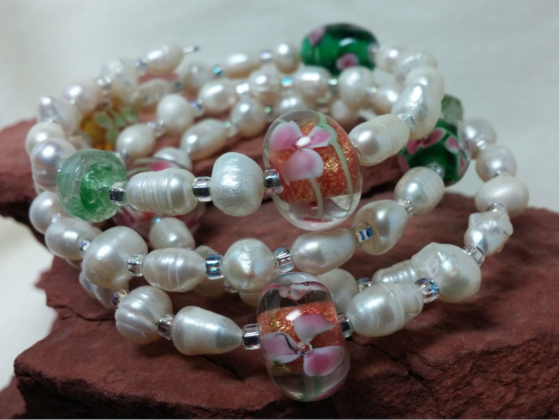 embellishment vermeil paved pearl zirconia image with bracelet stack pastel products pearls and cubic