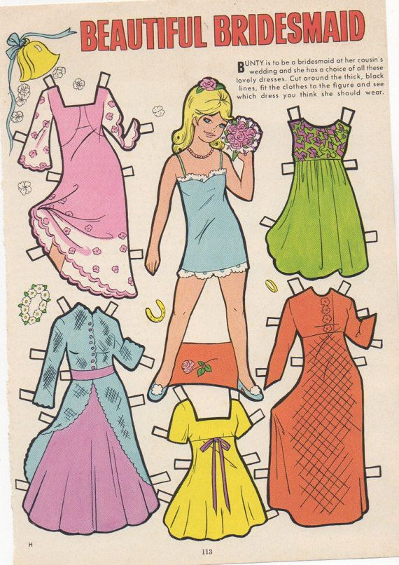 how to cut out paper dolls