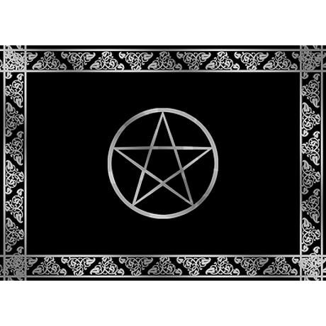 silver wiccan pentacle 5 39 x7 39 area rug by thepixelgarden drum kit in 2019 pentacle area rugs. Black Bedroom Furniture Sets. Home Design Ideas
