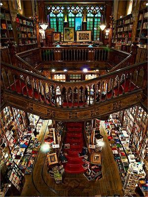 Livraria Lello Irmao Porto Portugal Beautiful Library Dream Library Bookstore