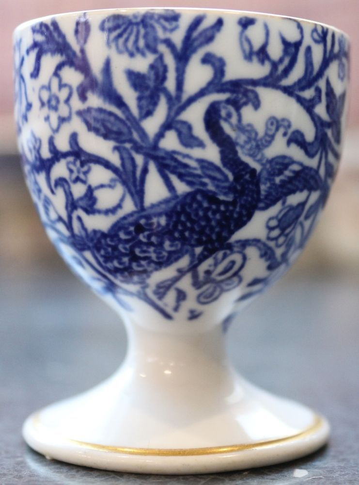 CHINESE OLD BLUE /& WHITE BIRDS FLOWERS PATTERN PORCELAIN CUP