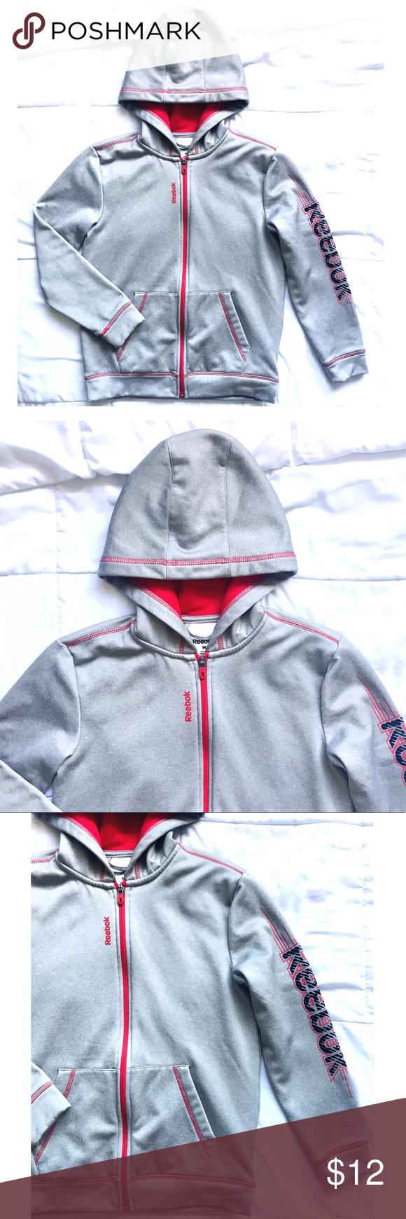 55f02a0d3c39 Reebok Gray Full Zip Up Jacket Size Medium in 2018