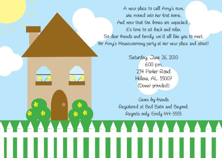 Housewarming Invitation Template  Invitation Sample