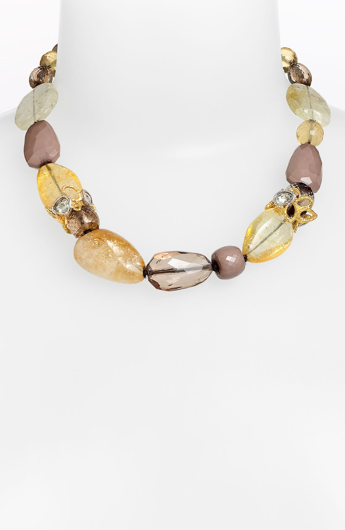 Alexis Bittar Elements Siyabona Stone Necklace in Silver (citrine multi) | Lyst