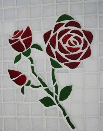 Resultado de imagem para RISCO DE FLORES PARA MOSAICO   Mosaicos ...