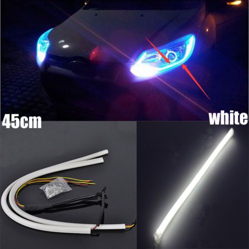2Pcs white 45CM Soft Guide Car Motorcycle LED Strip Light Lamp DRL Light dh-ak https://t.co/jZbIypigry https://t.co/A2bYaWltPH
