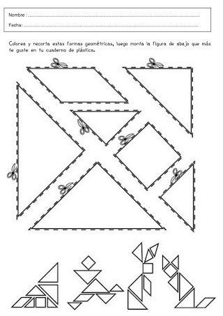 Foto Tangram Atividades De Arte Tangran Atividades De Geometria