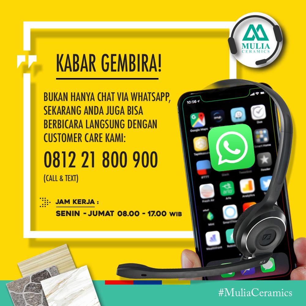 Lebih mudah menghubungi Mulia ceramics contact center!