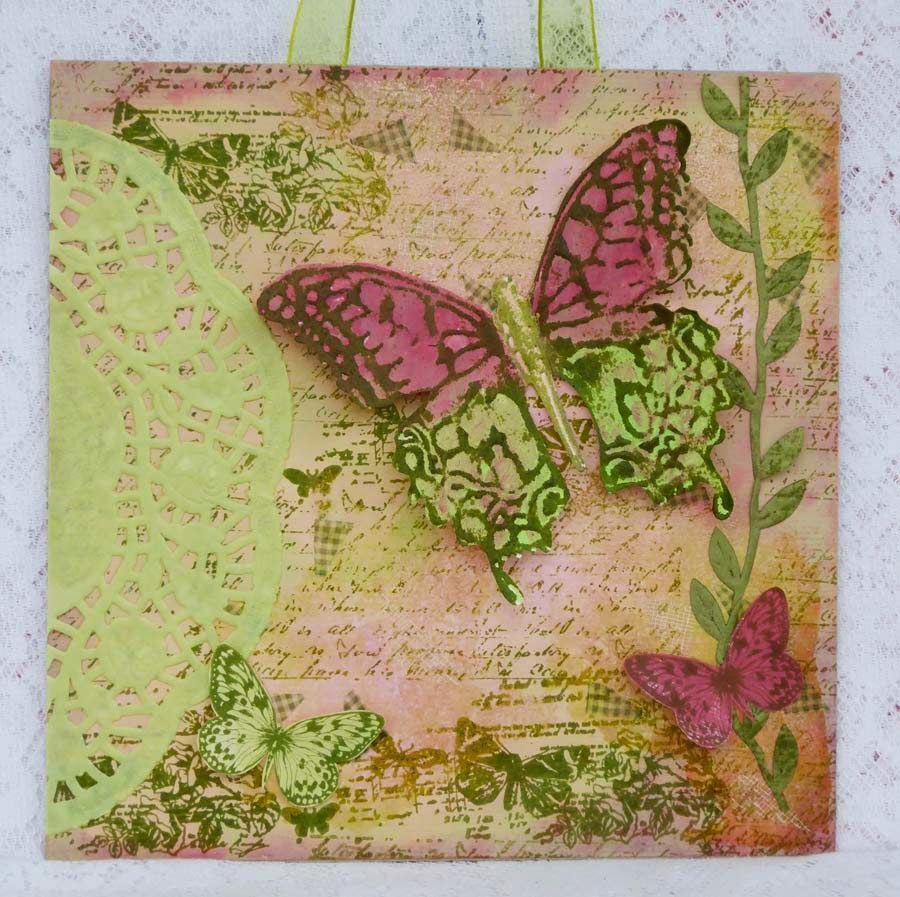 Mixed media wall hanging with full tutorial and step by step pics