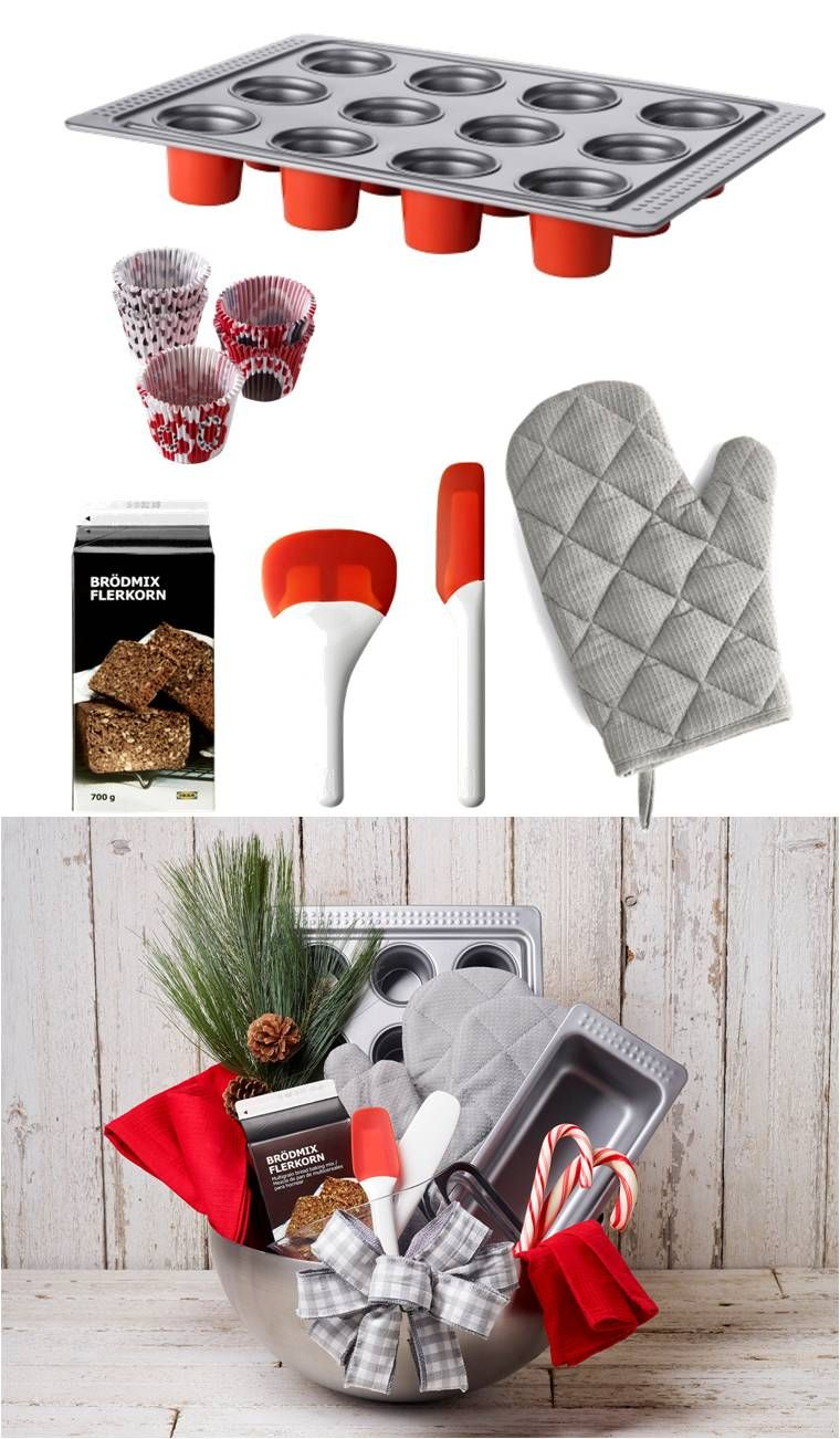 holiday gift baskets made easy by ikea start by picking a theme