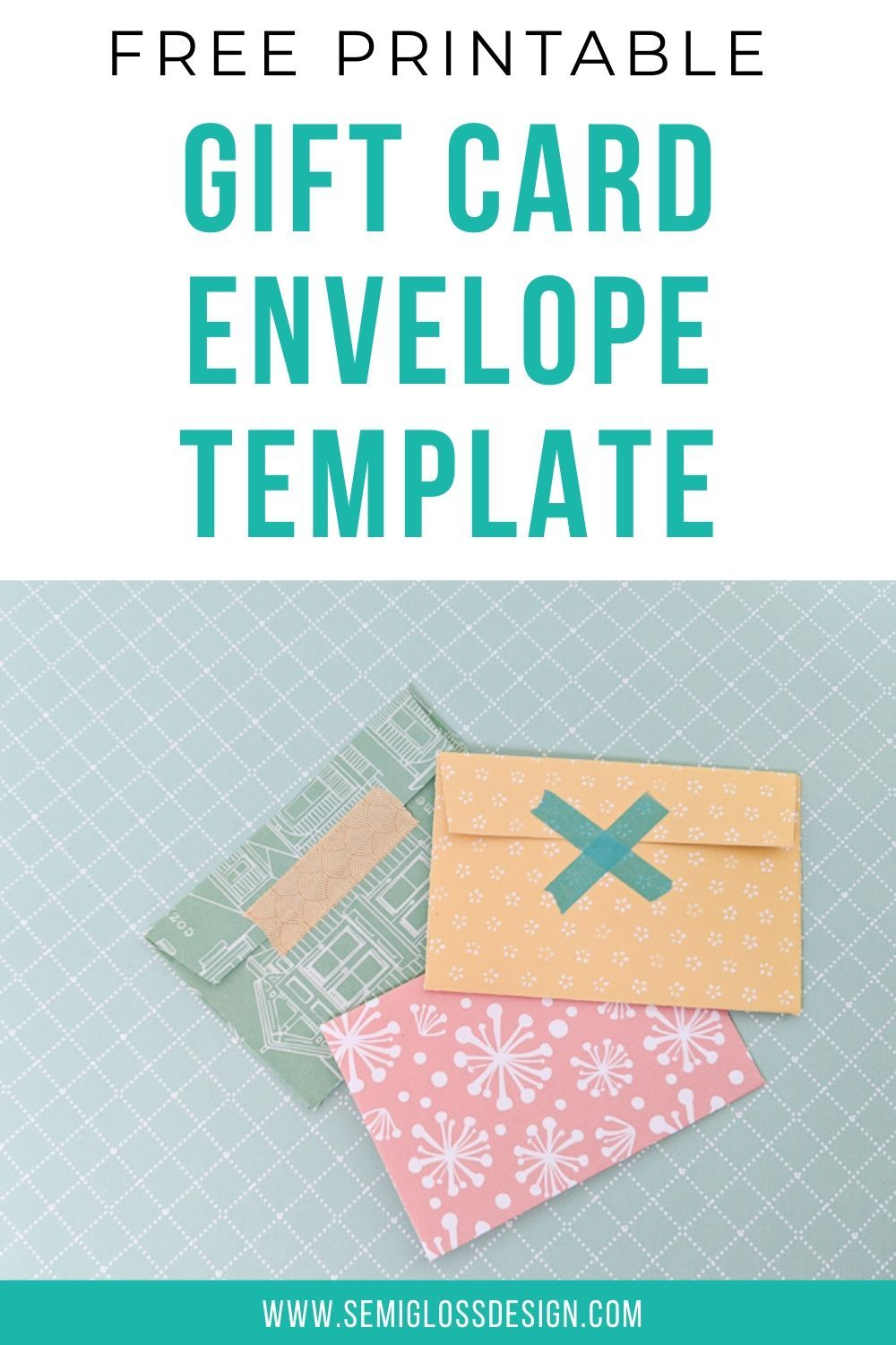Gift Card Holder Template Free Printable Template