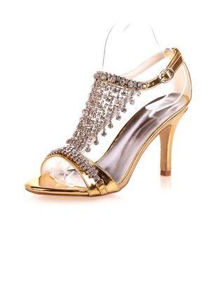c2c349470b #floryday Women's Sandals Slingbacks Heels Stiletto Heel Leatherette Shoes# high-heeled#golden#beading#elegant#cozy