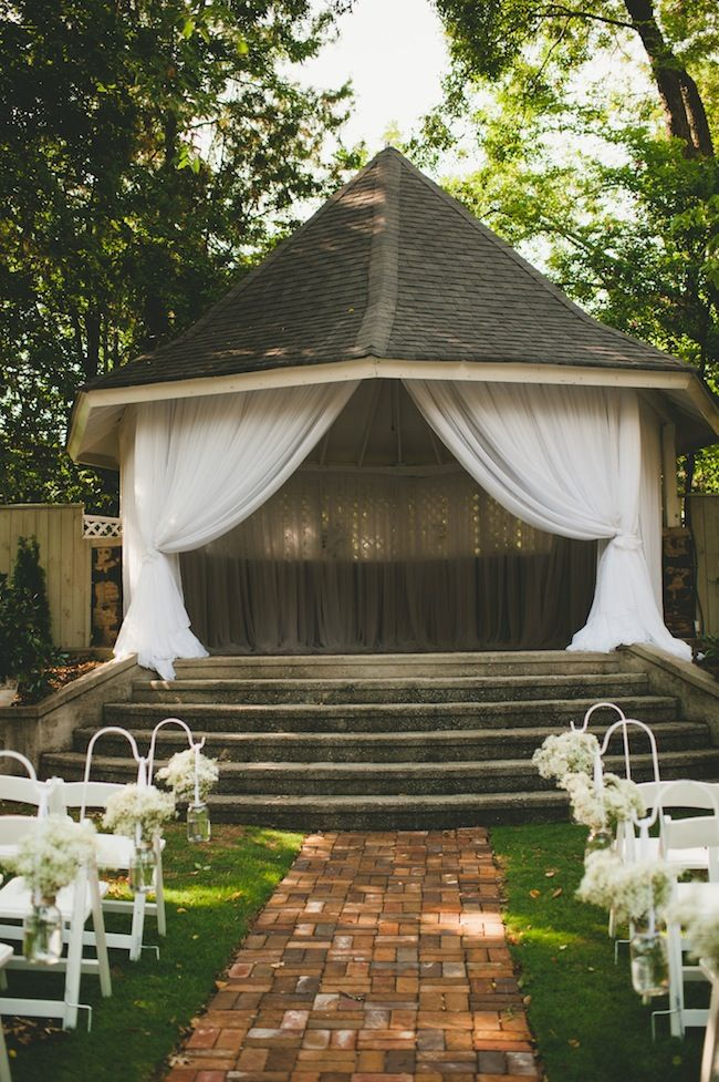 Gazebo Decoration Ideas For Outdoor Ceremony Small Weddings