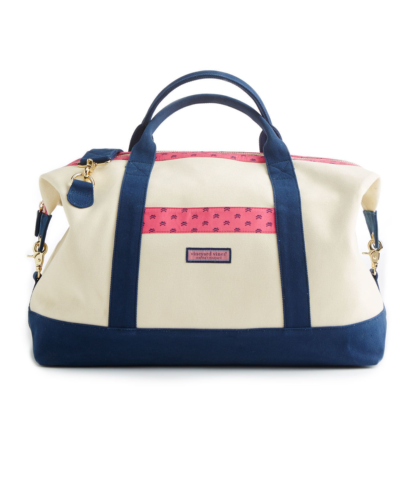 3d857e45d4 Shop Whale Crossbones Heritage Weekender Bag at vineyard vines ...