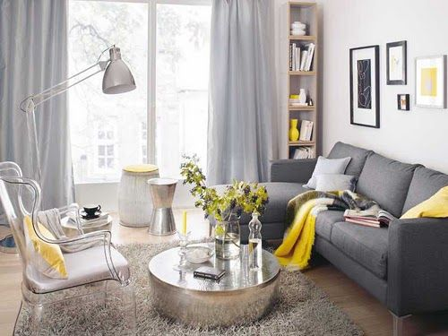 The Perfect Gray Yellow Living Room Small Living Room Design