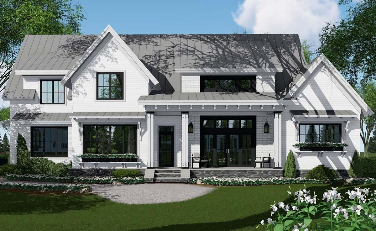 House Plan 09800297 Modern Farmhouse Plan 3,052 Square