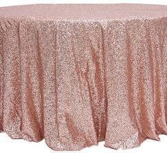 Blush Champagne/Rose Gold Sequin Tablecloth