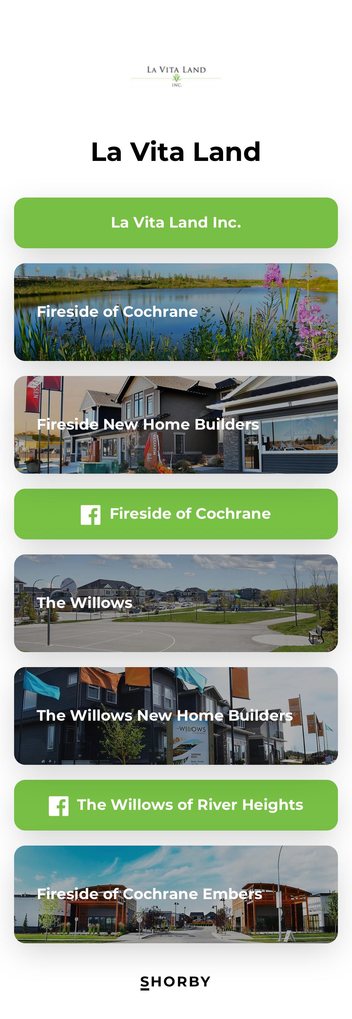 La Vita Land Smart Bio Links Ideas And Example For Realtors Real Estate Insurance Sales Agent Social Media Traffic Realtors Sales Agent