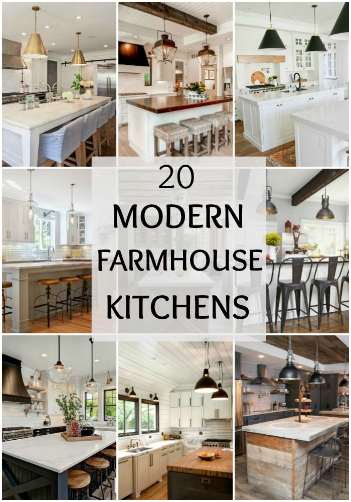 tour these 20 modern farmhouse kitchens to understand how the farmhouse style really does work well with modern decor especially to get fixer upper style
