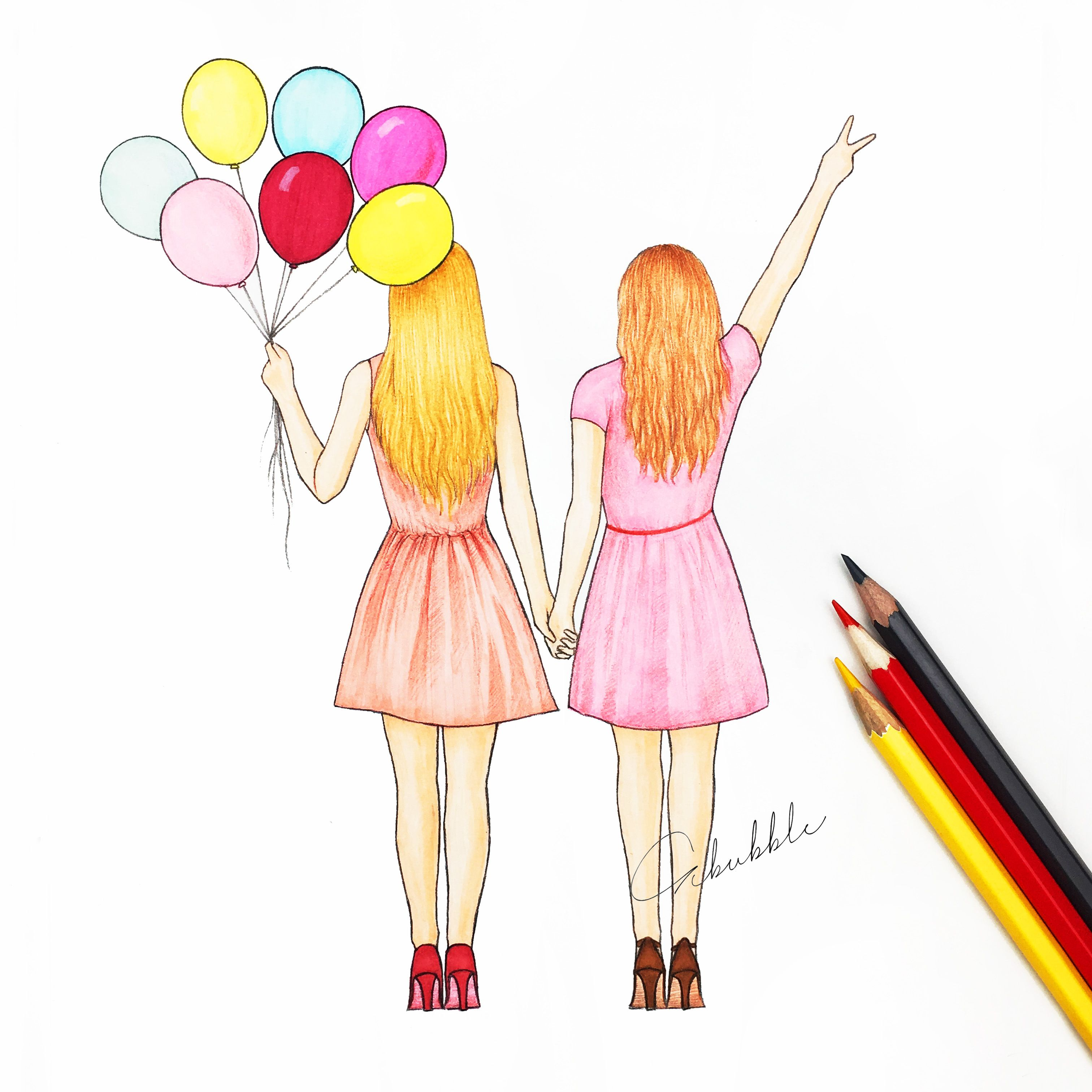 friendship images drawings - HD 3024×3024