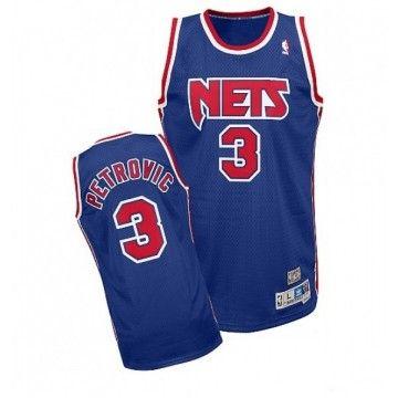 235d7a07e904 Maillot NBA Drazen PETROVIC New Jersey Nets Swingman bleu - Basket Store
