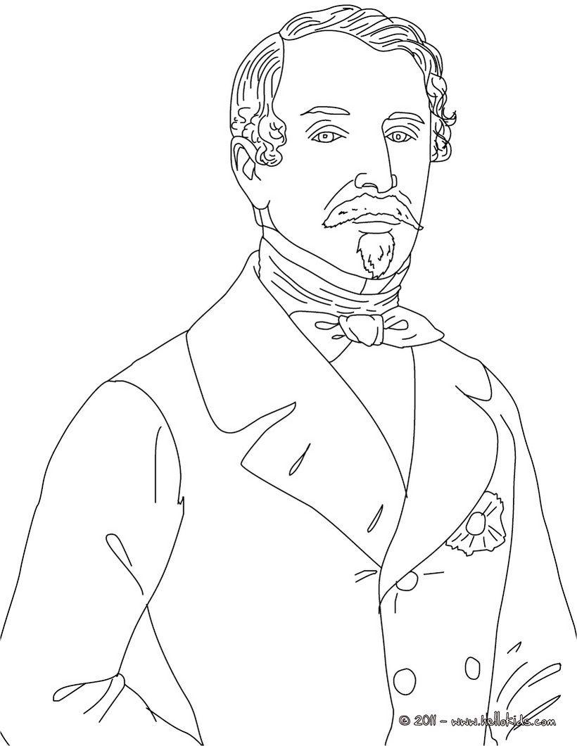 President LOIUS NAPOLEON BONAPARTE coloring page