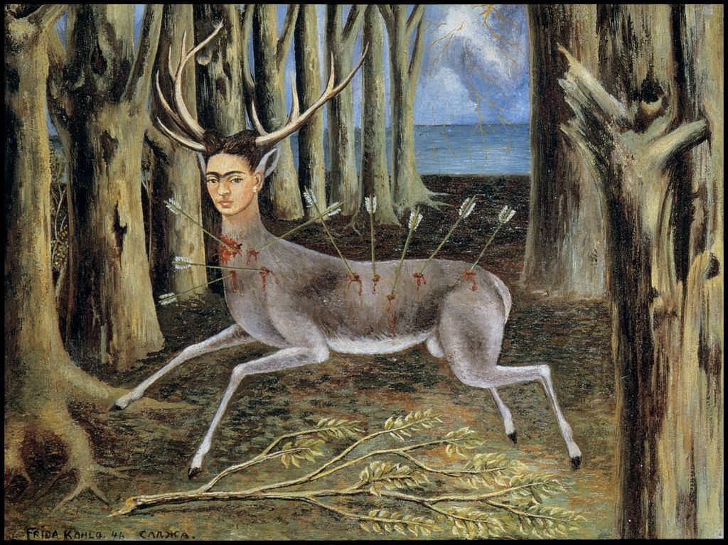"""The MCA played host to the first American solo exhibition of Frida Kahlo in 1978.   """"Little Deer"""" - Frida Kahlo, 1946"""