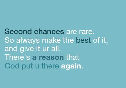 Had I Not Given Him A Second Chance I Wouldn T Be Married To The Best Man In The World Cindyr116 Chance Quotes Second Chance Quotes Words